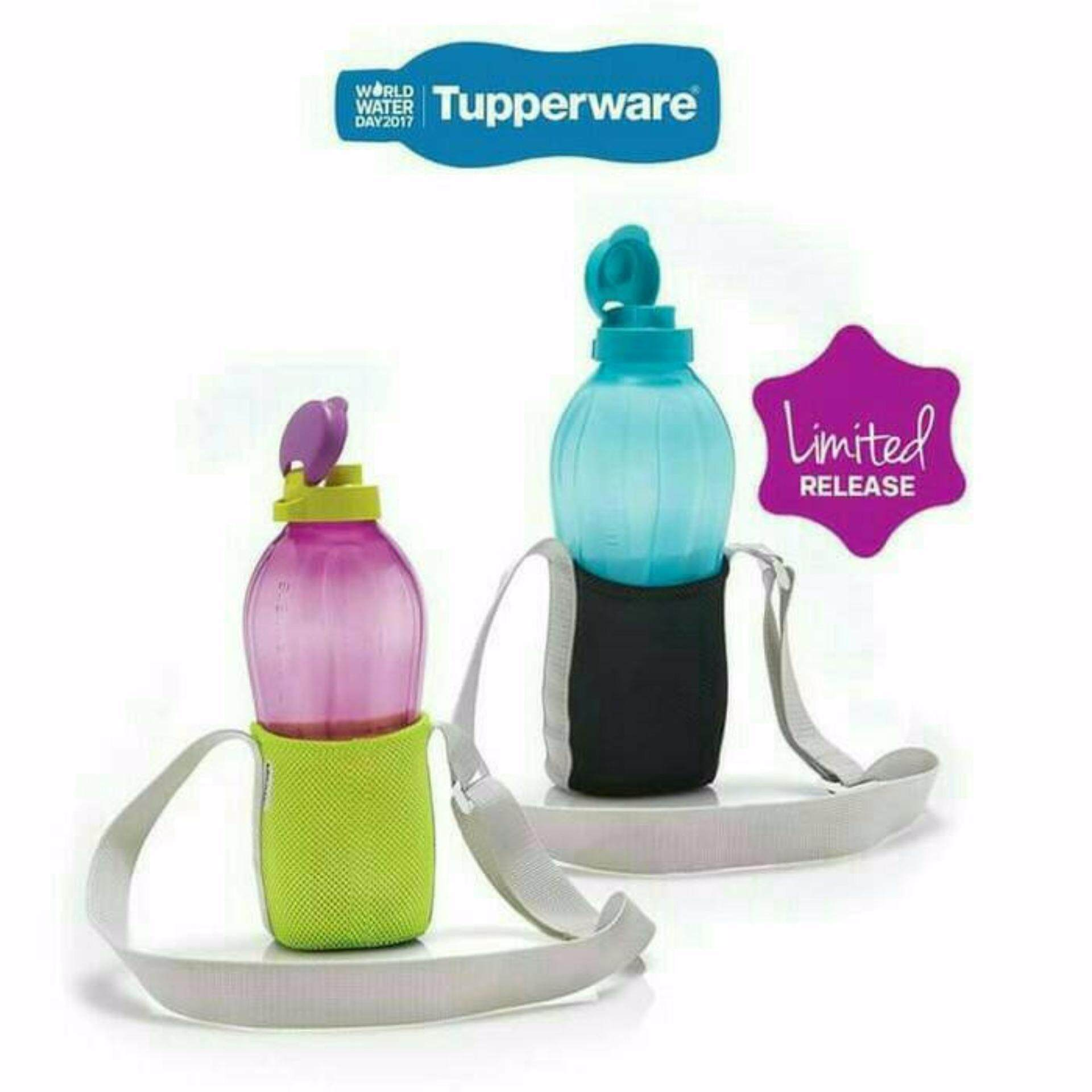 Tupperware Eco Bottle 2L (1) Blue With Black Strap (1)