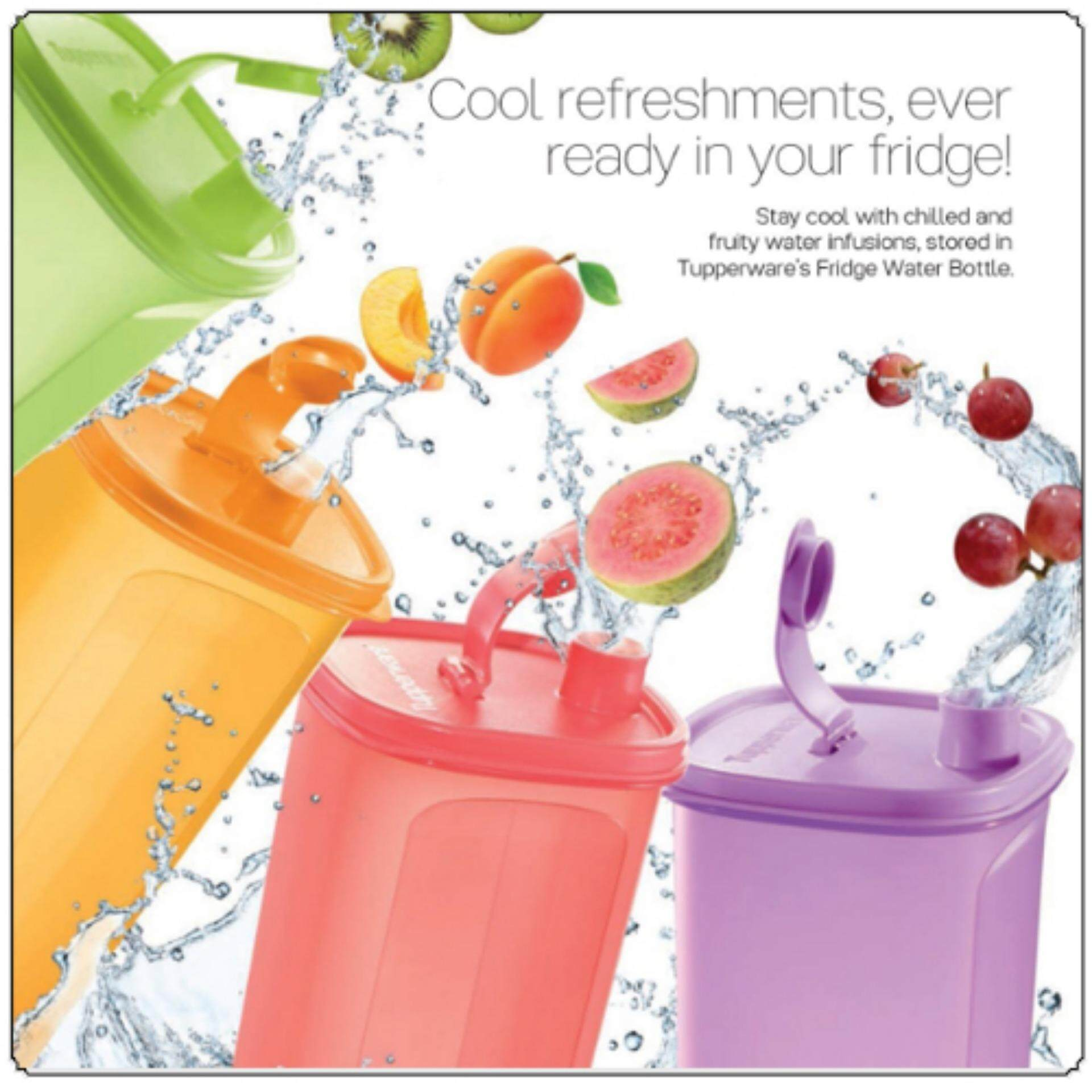 Tupperware Fridge Water Bottle (1) 2.0L with (1) Pouch - Random Color Send - 1 set only