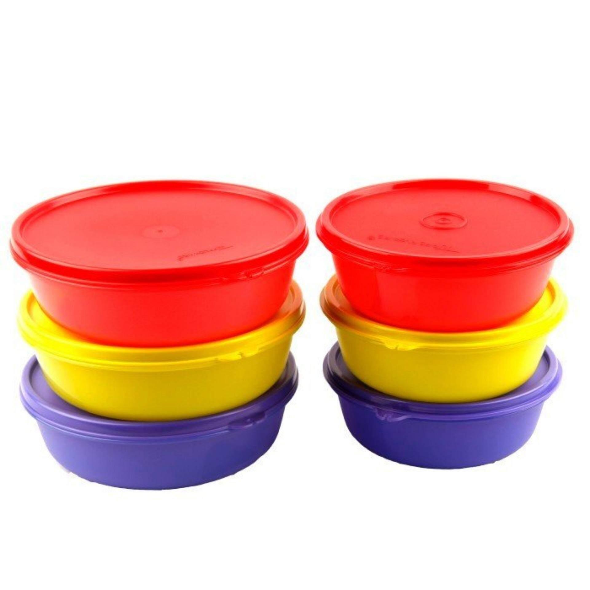 Tupperware Multi Bowl (3) 600ml and (3) 1L Set - Oversea Stock