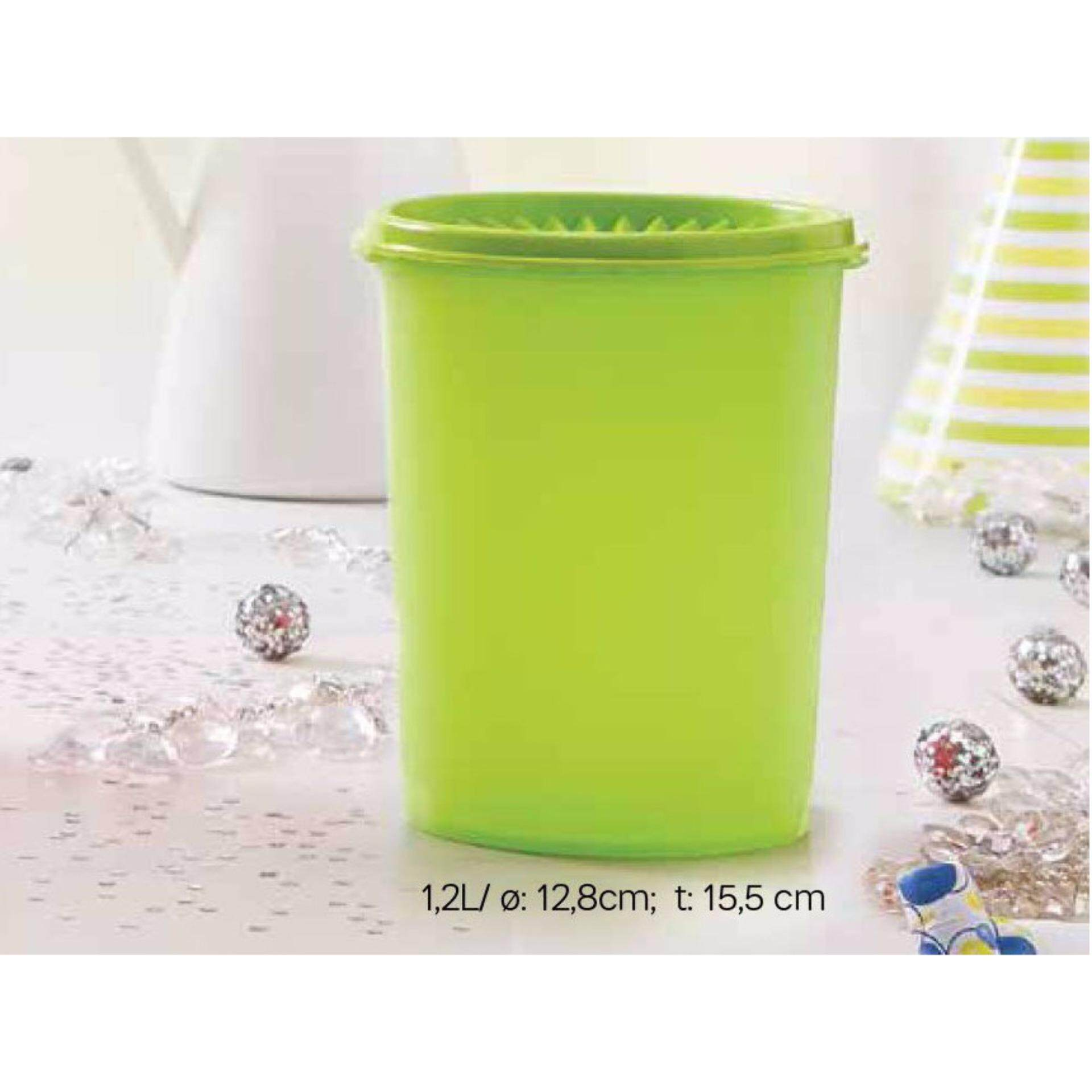 Tupperware Peacock Canister (1) 1.2L - Green - Oversea Stock
