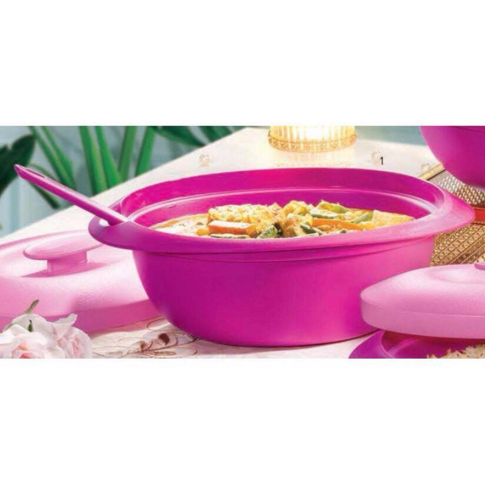 Tupperware Pink Blossom Soup Server (1) 1.8L and Soup Ladle (1)
