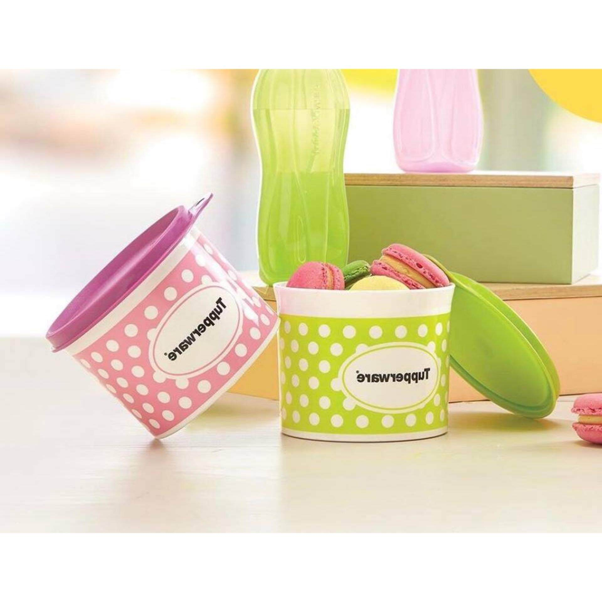 Tupperware Polkadot Canister (1)pc 550ml Only - Oversea Stock - Random Color Send