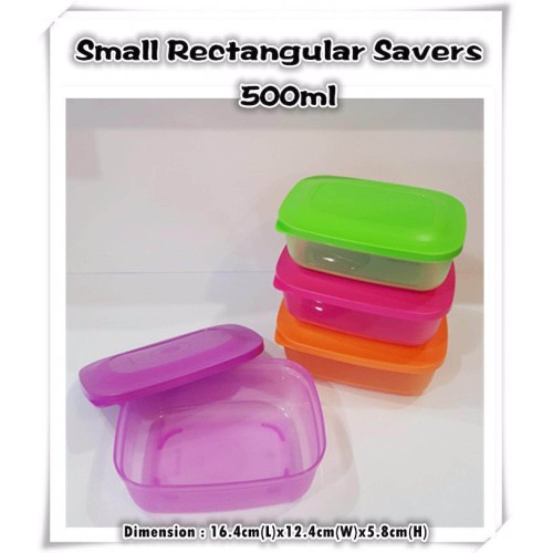 Tupperware Small Rectangular Savers 500ml (2)pcs - Random Color Send