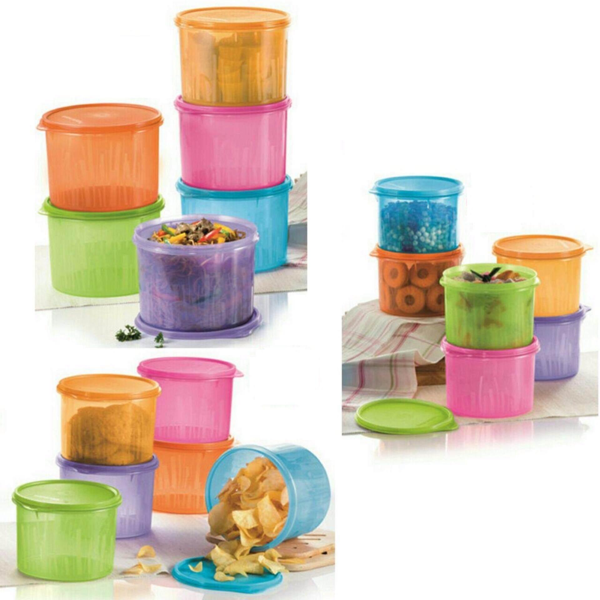 Tupperware Snack N Stack Set of 3pcs each Size - Purple