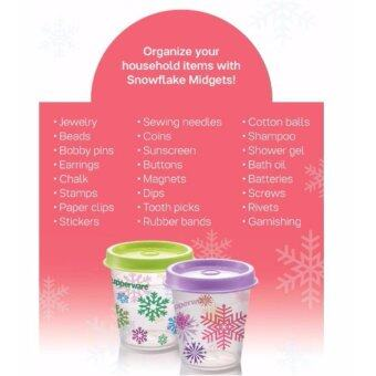 Detail Gambar Tupperware Snowflake Midgets (4) 60ml - Purple Daisy Terbaru