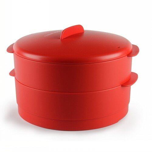 Tupperware Steam It Red 2 layer