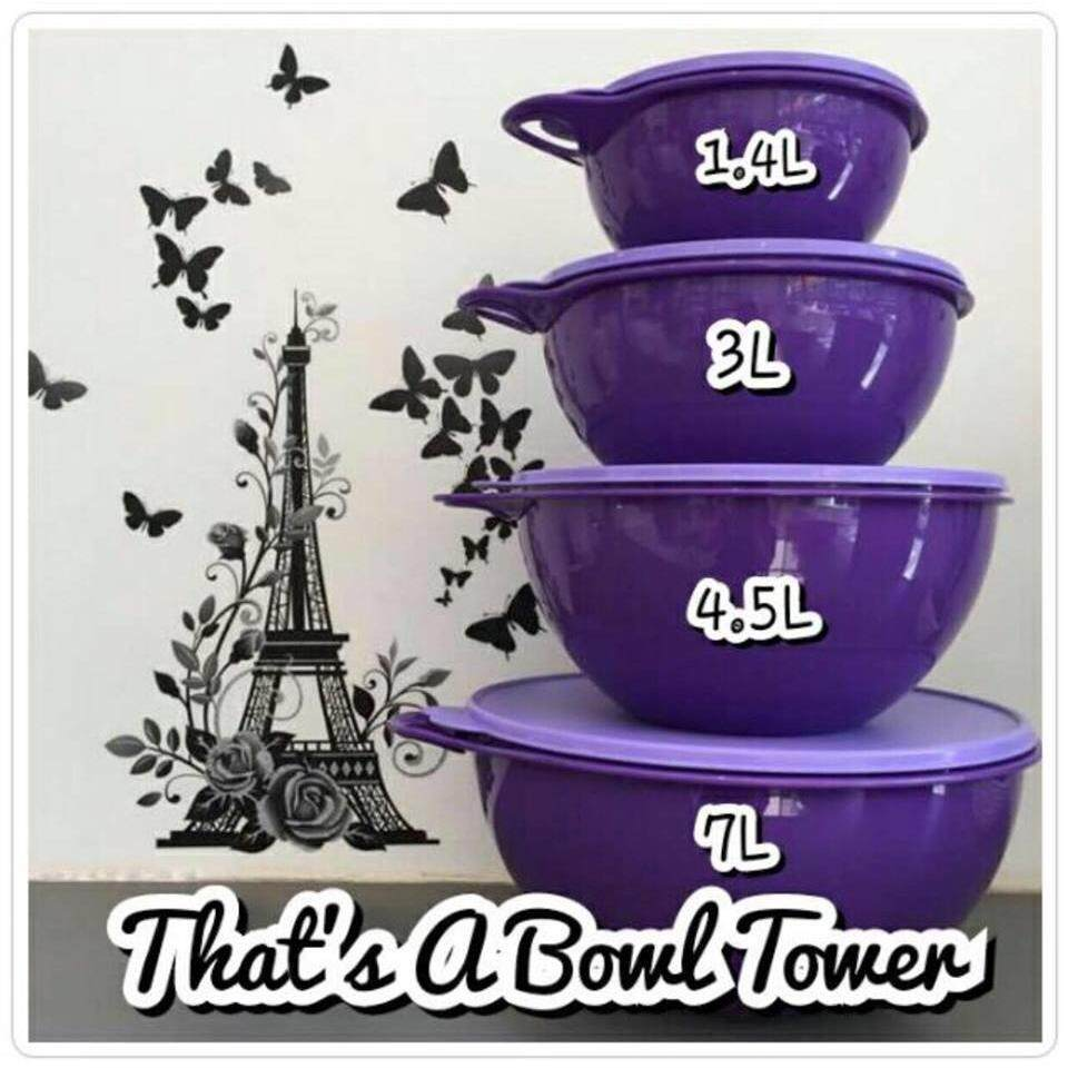 Tupperware Thats A Bowl Tower (1)7L Only - Purple