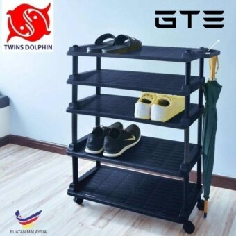 Harga Twins Dolphin 5 Tier Shoe Rack With U-Stand - Fulfilled by GTE SHOP