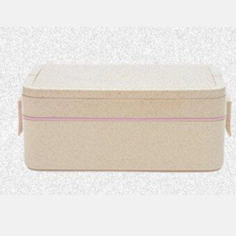 Harga Two layer.Plastic Lunch box Lunchbox Bento Lunch Box Food ContainerStudent's lunch box.