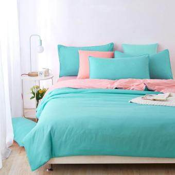 Harga Two-Tone Bed Sheet Set - Blue Peach - Single