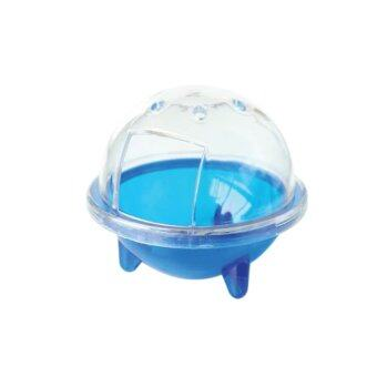 UFO Hamster Gerbille Pet Bathroom Cage Bath Sand Shovel Toy Toilet-Blue