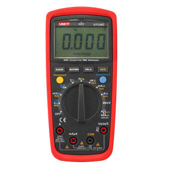"UNI-T UT139C 2.6"" LCD True RMS Digital Multimeter - Red + BlackGrey (2 x AA)"