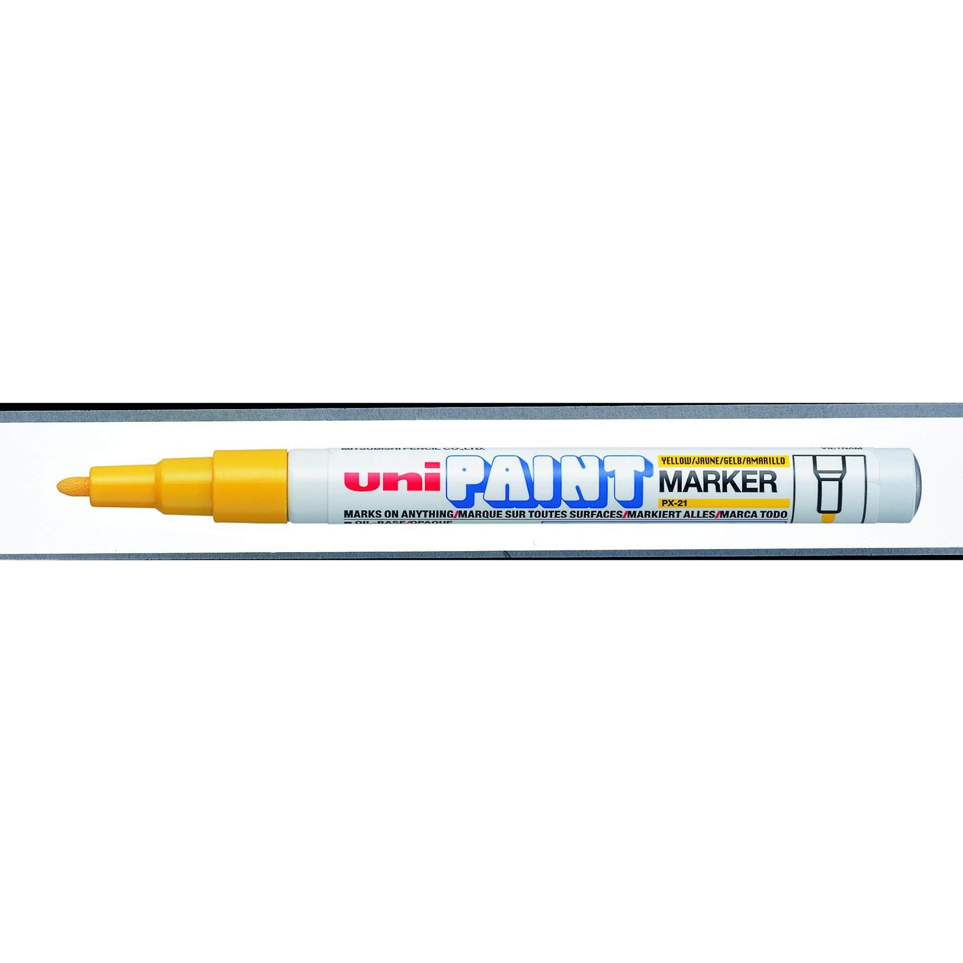 Uniball PX 21 Paint Marker Fine 12pcs/box (Yellow)