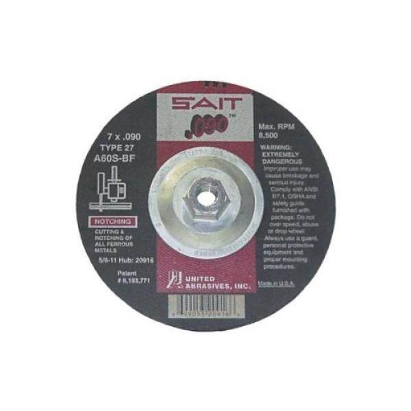 United Abrasives/Sait 20916 Tipe 27 A60S 7-Inci. 090-Inci Oleh 5/8-11-Inci Depressed Center Cutting Roda, 10-Bungkus-Internasional