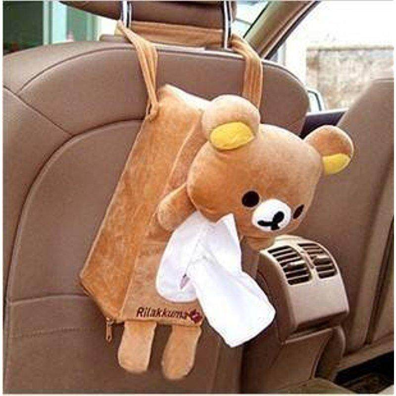Urparcel High Quality Lolita Lovely Cute Rilakkuma SanX Cute Plush Car Tissue Box Cover w/Strap Lucky-G - intl