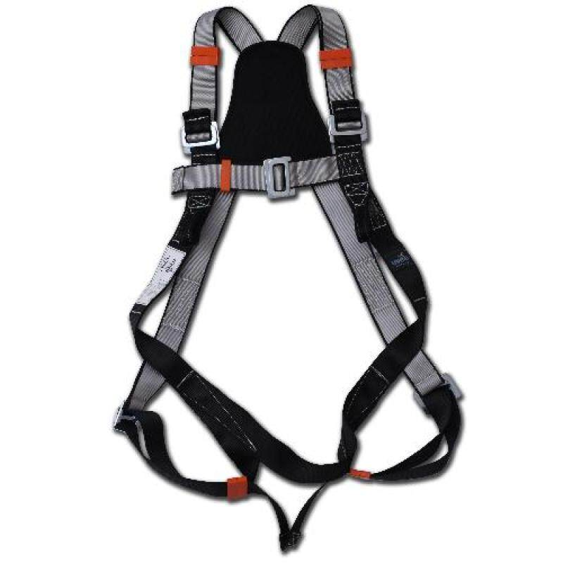 Buy UVEE FULL BODY HARNESS WITH DOUBLE LANYARD BIG HOOK WITH ENERGY ABSORBER (CE CERTIFIED)(GREY) Malaysia