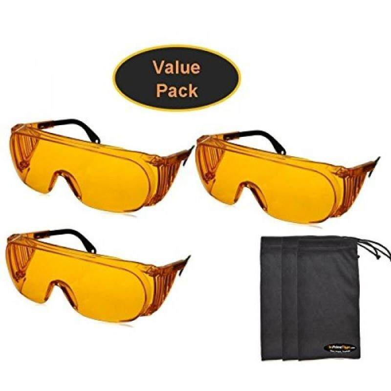 Buy Uvex S0360X Ultra-spec 2000 Safety Eyewear, Orange Frame, UV Extreme Anti-Fog Lens (3-Pack) w/ Exclusive InPrimeTime Carry Pouches Malaysia