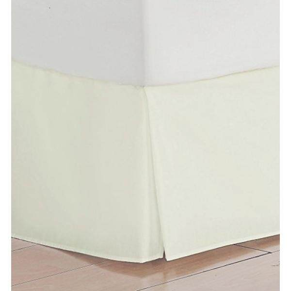 Vedanta Home Collection Hotel Quality 700-Thread-Count Egyptian Cotton King Size One Piece Split Corner Bed Skirt 17 Inch Drop Length Ivory Solid - intl