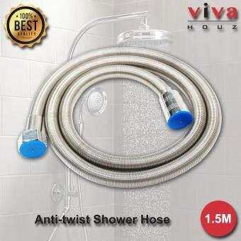 Viva Houz Flexible Stainless Steel (304) Shower Spring Hose, Replacement For Bathroom Shower Bathroom Hose Pipe (1.5M, 5 Ft)