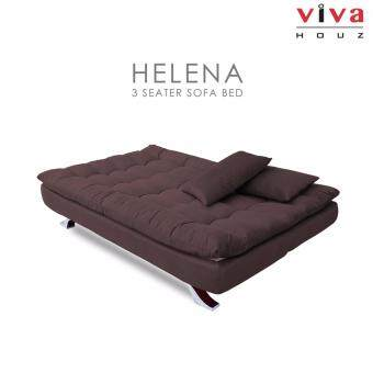 Viva Houz Helena 3 Seater Sofa Bed Full Fabric Removable Cover Dark