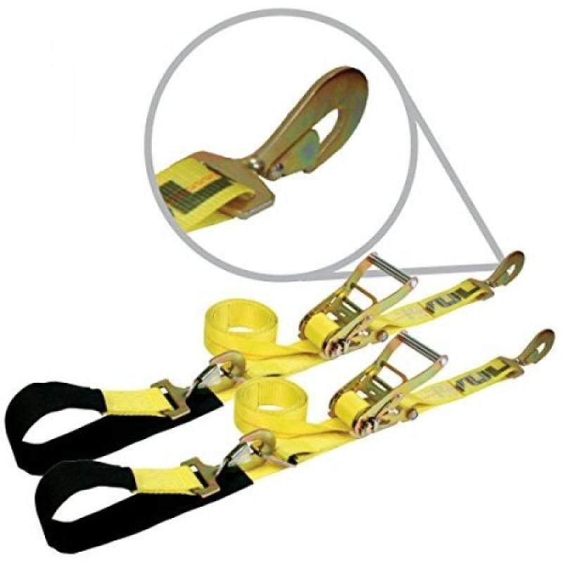 "Buy Vulcan Classic Yellow Ratcheting Axle Strap Tie Downs With Snap Hooks (2"" wide x 102"" long - 2 Pack) Malaysia"