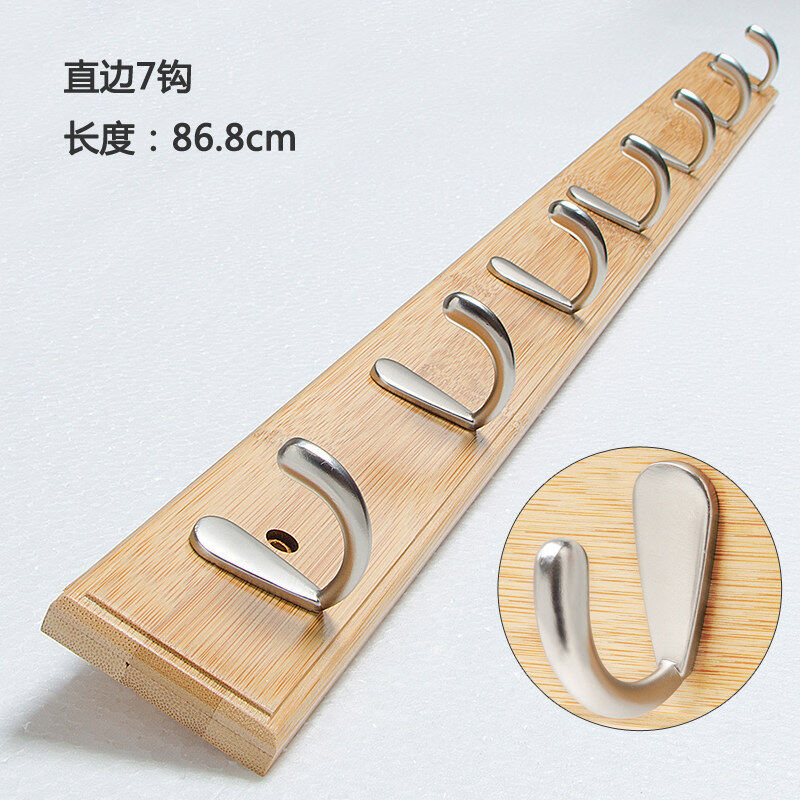 Buy Wall clothes hook creative living room coat rack door after hanging clothes hook solid wood bedroom entrance wall on the hanging clothes rack Malaysia