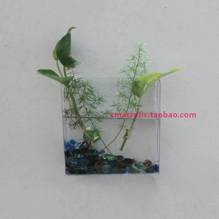 Tawaran Hebat Wall Decorative Wall Fish Tank Vase Small Fish Tank