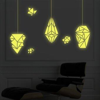 Walplus Geometric Lamps Glow In The Dark Wall Stickers (XL Series) Part 92
