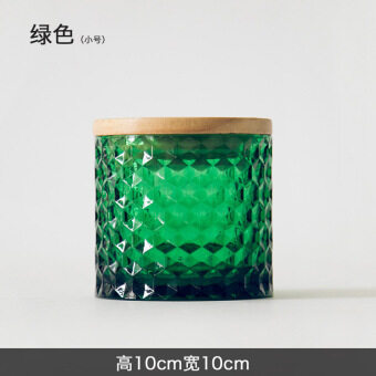 Waning tree-sealed cans European glass storage jar candy jar home daily decorative cans creative Ornaments