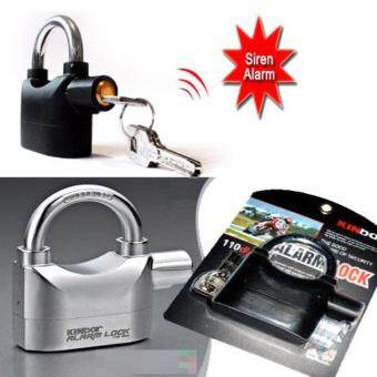 Harga Waterproof Security Alarm Lock With 110db Ultra Loud SoundProtection High Quality Alarm Lock (Black)