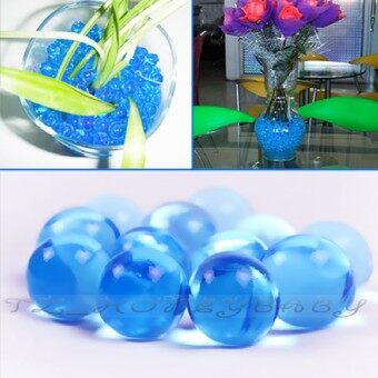 Harga Wedding 50G Water Aqua Crystal Soil Gel Ball Beads Vase CenterpieceBlue