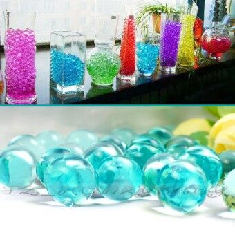 Harga Wedding 50G Water Aqua Crystal Soil Gel Ball Beads Vase CenterpieceDark Green