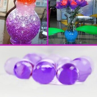 Harga Wedding 50G Water Aqua Crystal Soil Gel Ball Beads Vase CenterpiecePurple