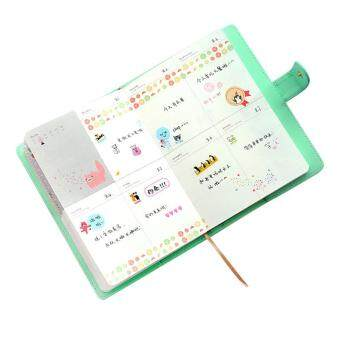 Weekly Planner Sweet Notebook Creative Student Schedule Diary Book Color Pages School Supplies No Year LimitGreen
