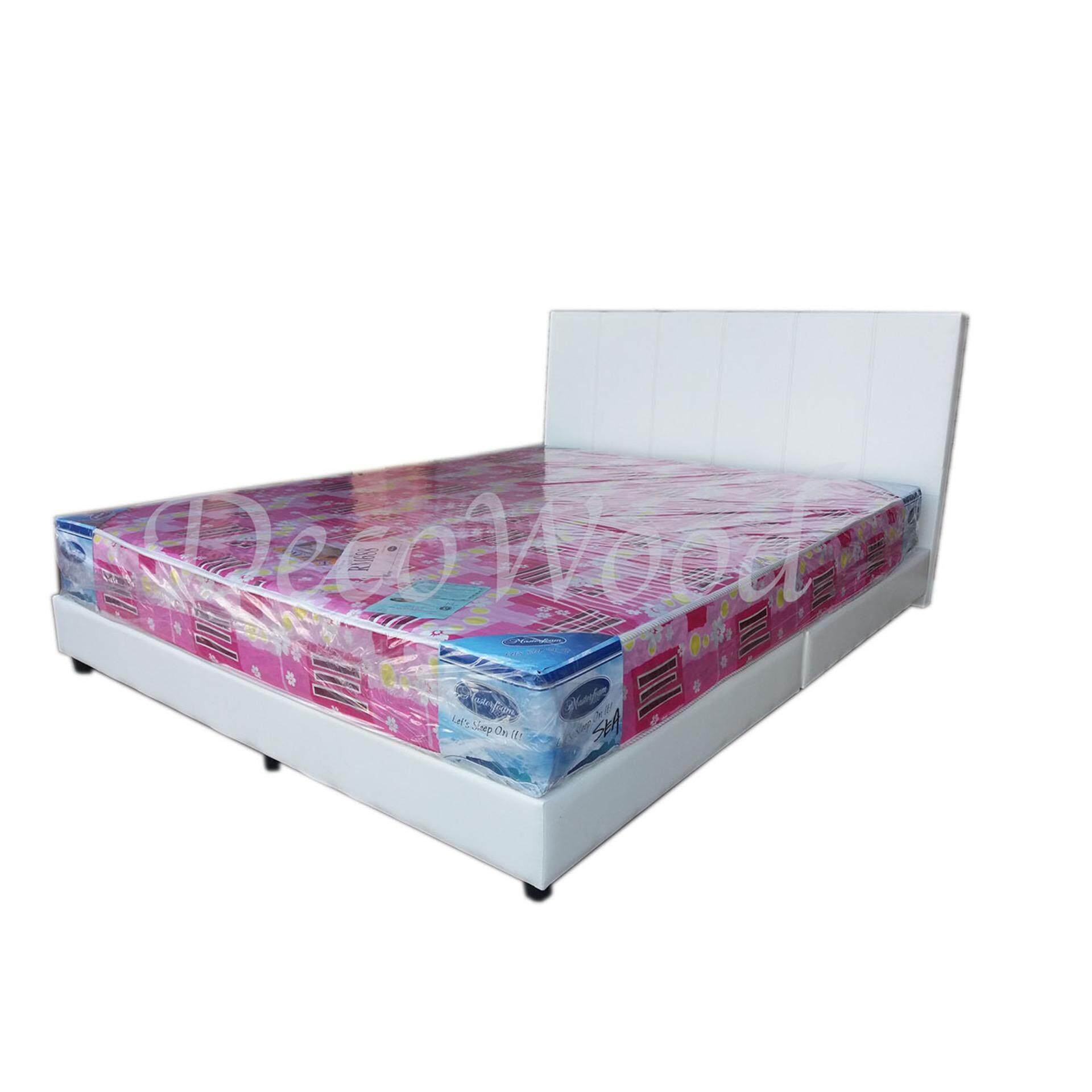 White Divan Bed with 6-inch Queen Size Mattress(Bed + Mattre...
