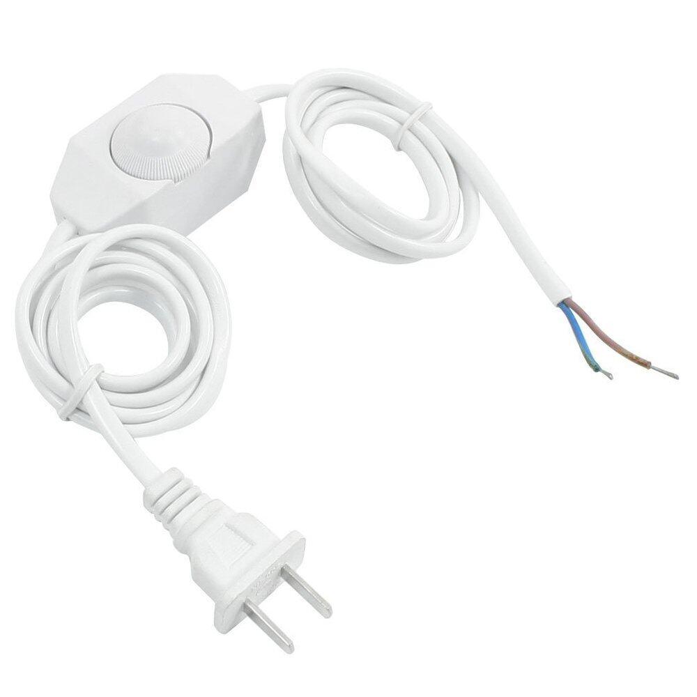 Kabel Daya Putih Kabel W Dimmer Sakelar AC 250 V/110 V AS Steker-