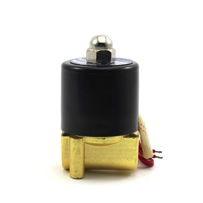 Whyus 220V Electric Solenoid Valve Water Gas Oil Pneumatic Valve 2W-025 .