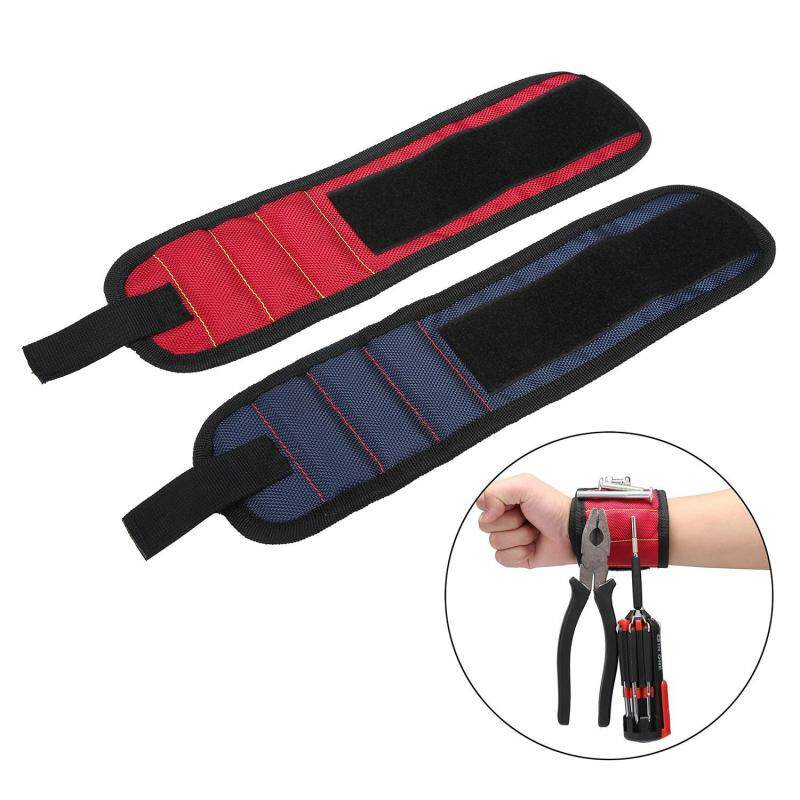 Buy Womdee 2Pack Magnetic Wristband, Embedded With Super Powerful Magnets For Holding Screws,Nails,Drilling Bits And Small Tools Tightly While Working,Cool Gift For Father's Day,Red+Blue Malaysia