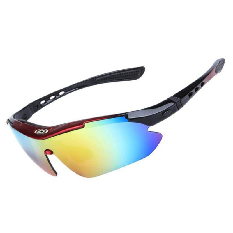 Buy Womdee Polarized Sports Sunglasses With 5 Interchangeable Lenses For Men Women Cycling Baseball Running Fishing Driving Golf Glasses(red+black) Malaysia