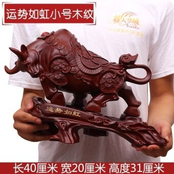 Wood Carving Lucky Feng Shui Cattle Decoration Office Desk Boss Desk Desk  Decorations Company Shop Opening Gifts ...