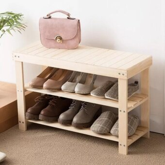 Wooden Bench with Shoe Storage Shoe Rack