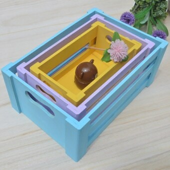 Wooden storage box finishing box drawer-style storage box Toy storage box large simple wooden box