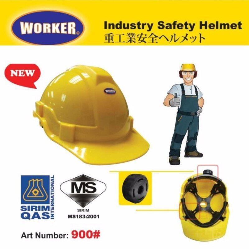 Buy WORKER INDUSTRIAL SAFETY HELMET (RACHET) SIRIM CERTIFIED YELLOW/WHITE/BLUE Malaysia