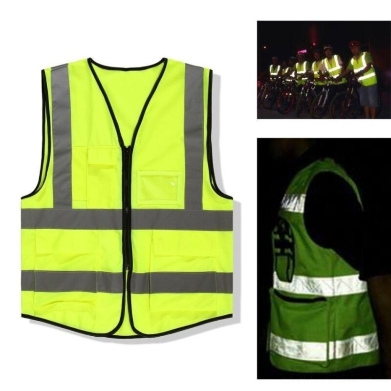 WSmall 1X High Safety Security Visibility Reflective Vest Constructiontraffic Cloth Rt 142456638627