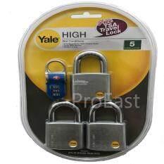 Buy Yale Y120/50/127/3 Satin Chrome Padlock Keyed Alike System - 50mm x 3pcs Malaysia