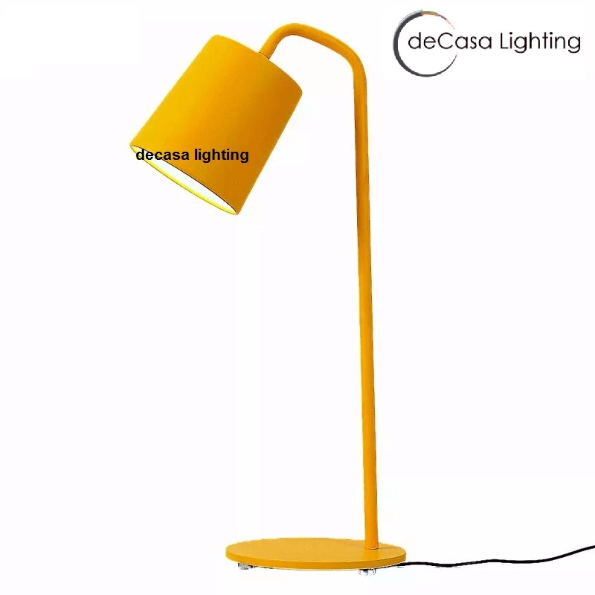 Yellow Simple Table Lamp Desk Lamp DECASA TABLE LAMP (XD-3970-YW)