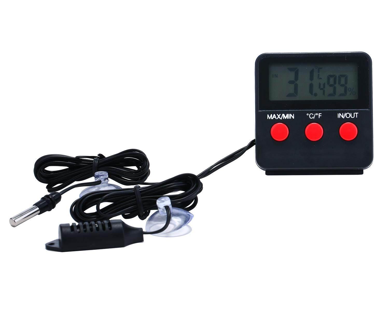 Yesefus Reptil Vivarium Terarium Termometer Higrometer dengan Sensor Jarak Jauh-Internasional
