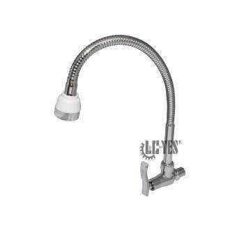 YES+PLUS In-Wall Mounted Zinc Die Cast Flexible Bathroom Sink Basin Kitchen Single Lever Cold Tap Faucet(Chrome)