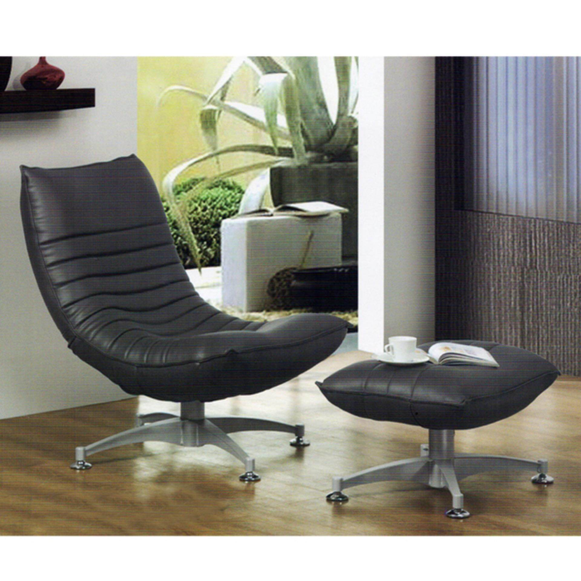 Zantoi Grey Relax TV Chair with Ottoman Recliner Hall Chair Sleep Chair Nap Chair (Life-Time Warranty)
