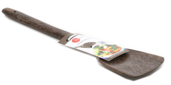 Zeco Sea Coconut Palm Wood Spatula / Turner - 35cm - Flat